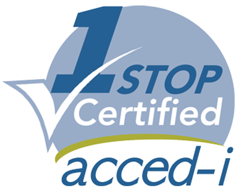 1 Stop Certified acced-i Certification Logo